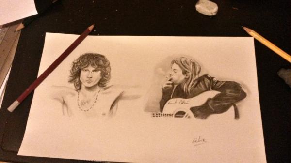 Kurt Cobain, Jim Morrison par Quiva